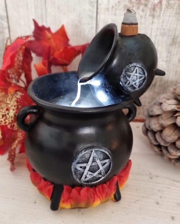 pouring cauldron backflow incense burner