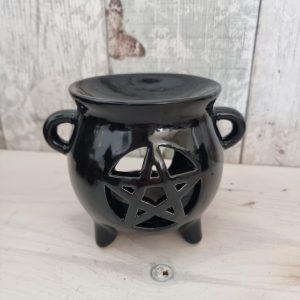 black pentagram oil burner