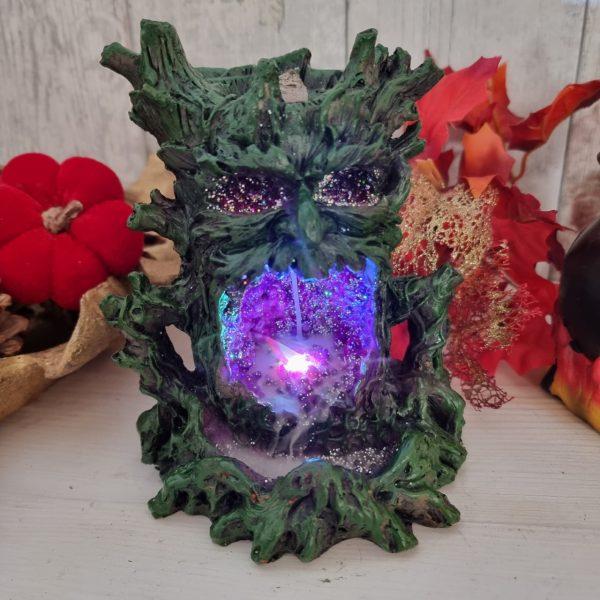 green tree man backflow incense burner
