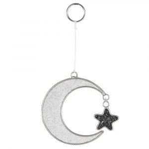 cresent moon and star suncatcher